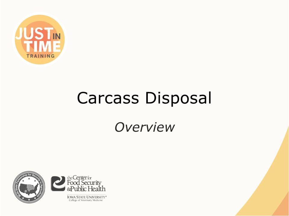 Carcass Disposal Overview