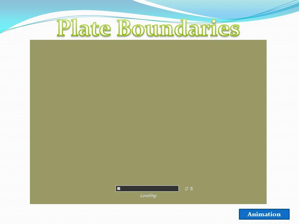 Transform Boundary Divergent Boundary Convergent Boundary (oceanic/continental) (oceanic/oceanic) (continental/continental) On the back of your map: