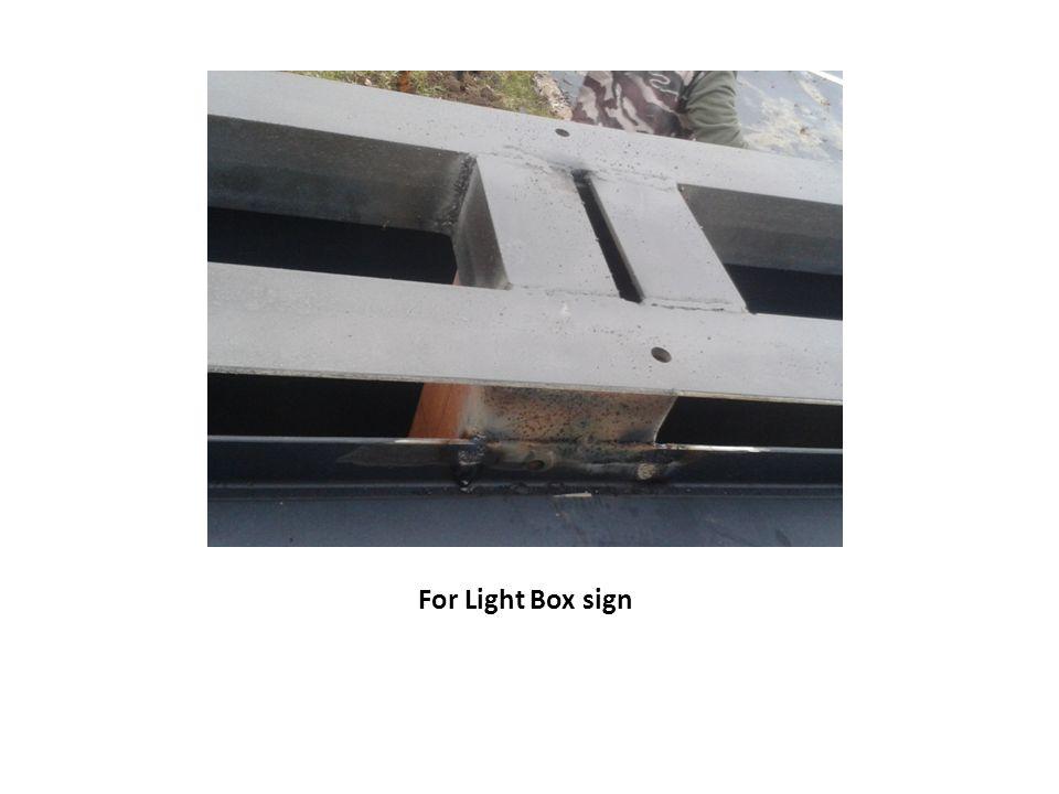 For Light Box sign