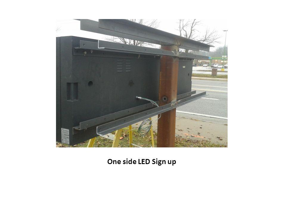 One side LED Sign up