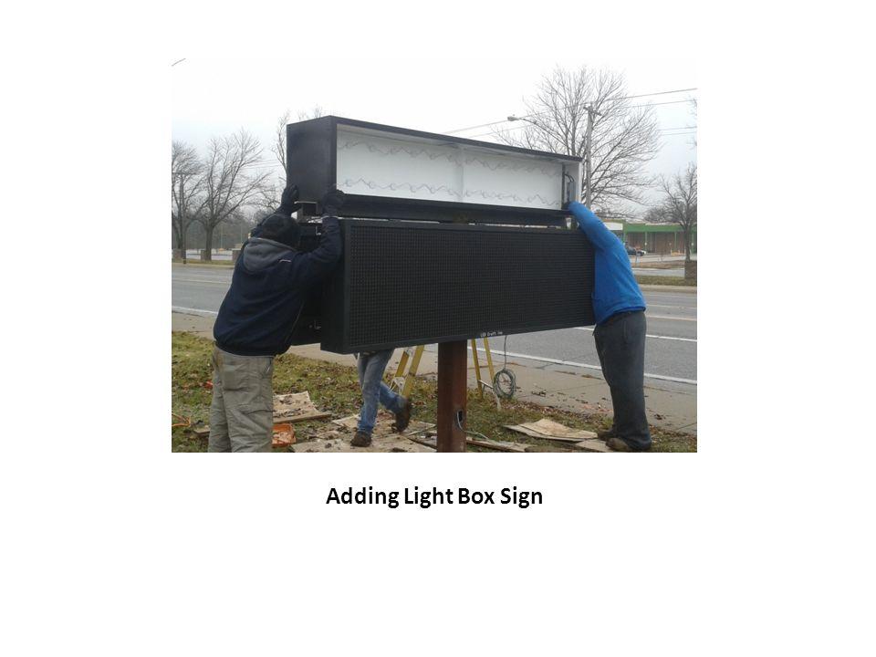 Adding Light Box Sign