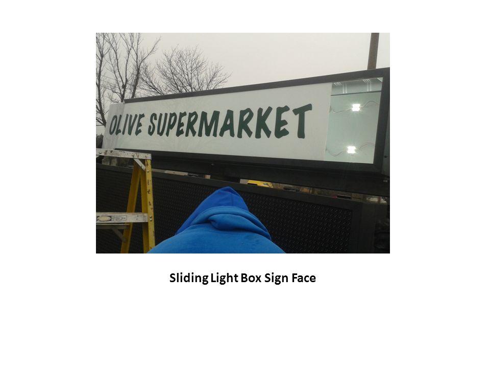 Sliding Light Box Sign Face