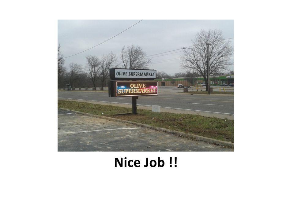 Nice Job !!