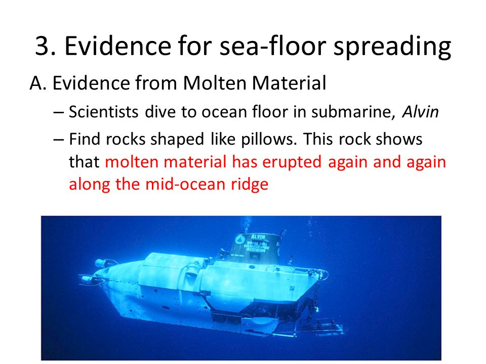 3.Evidence for sea-floor spreading A.