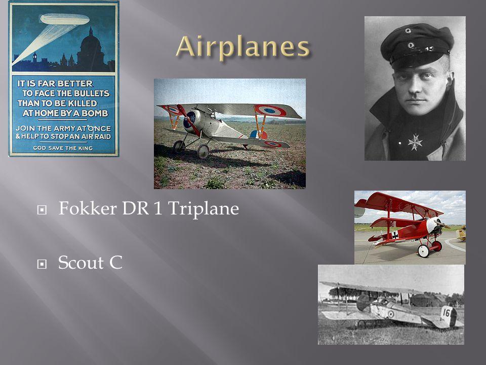  Fokker DR 1 Triplane  Scout C