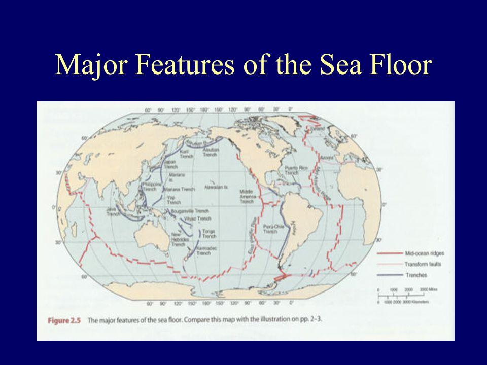Major Features of the Sea Floor