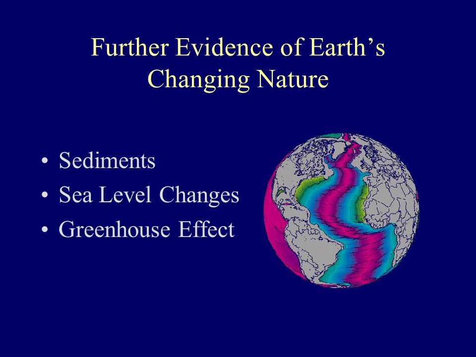 Further Evidence of Earth's Changing Nature Sediments Sea Level Changes Greenhouse Effect