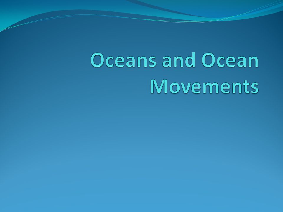 Cool Facts 71% of all water on Earth is in our oceans.