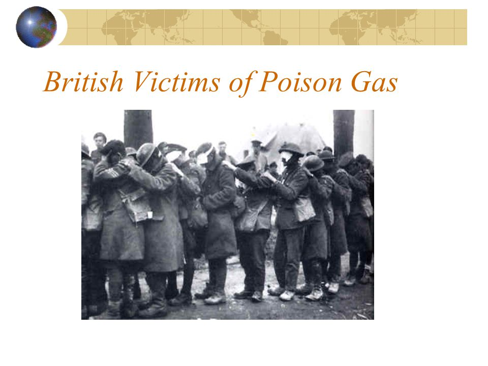 British Victims of Poison Gas