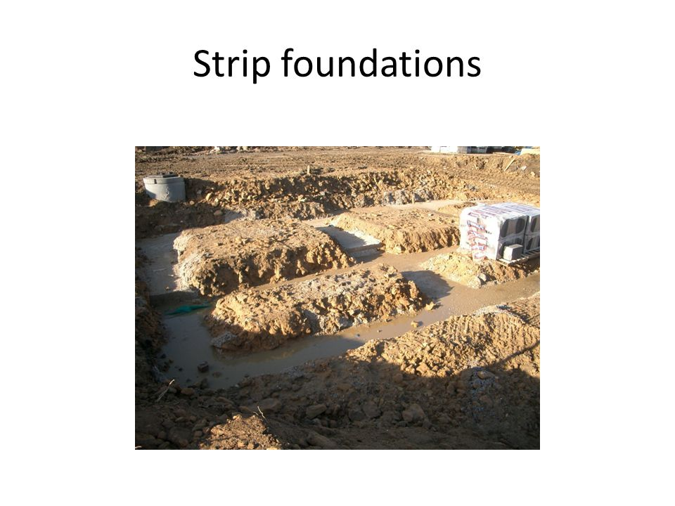 Strip foundations