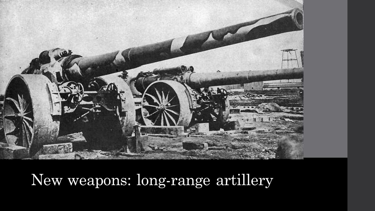 New weapons: long-range artillery