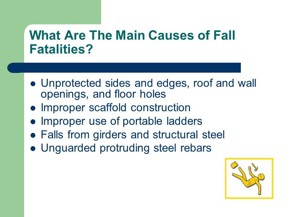 What Are The Main Causes of Fall Fatalities.