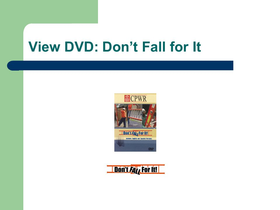 View DVD: Don't Fall for It