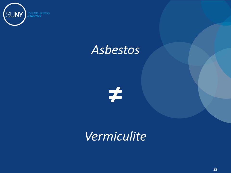Asbestos ≠ Vermiculite 22