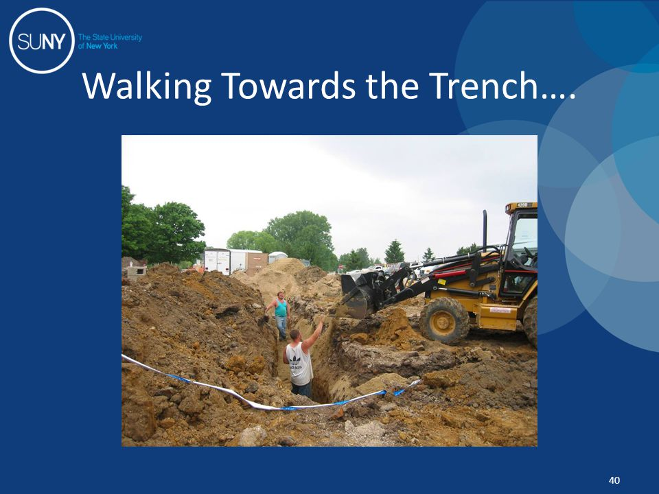 Walking Towards the Trench…. 40