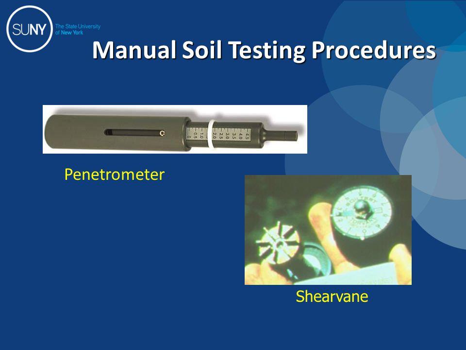 Manual Soil Testing Procedures Penetrometer Shearvane