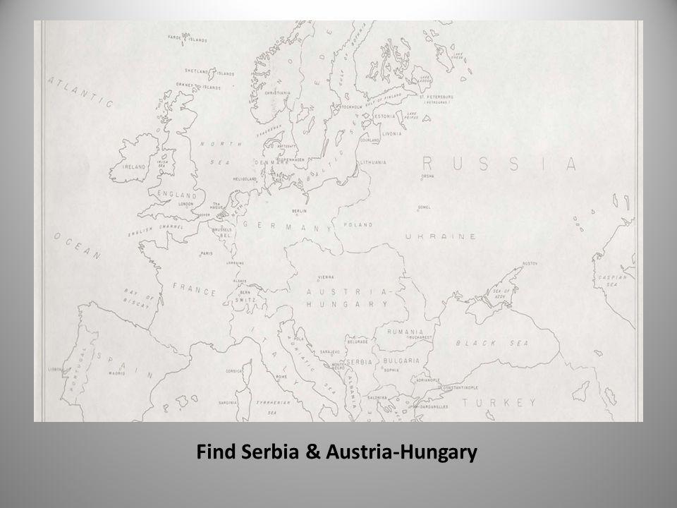 Find Serbia & Austria-Hungary
