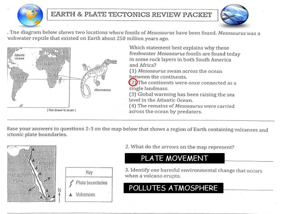 PLATE MOVEMENT POLLUTES ATMOSPHERE