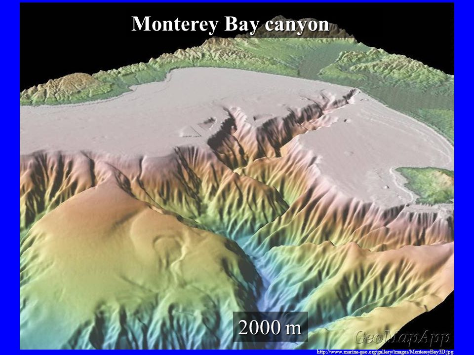 http://www.marine-geo.org/gallery/images/MontereyBay3D.jpg 2000 m Monterey Bay canyon