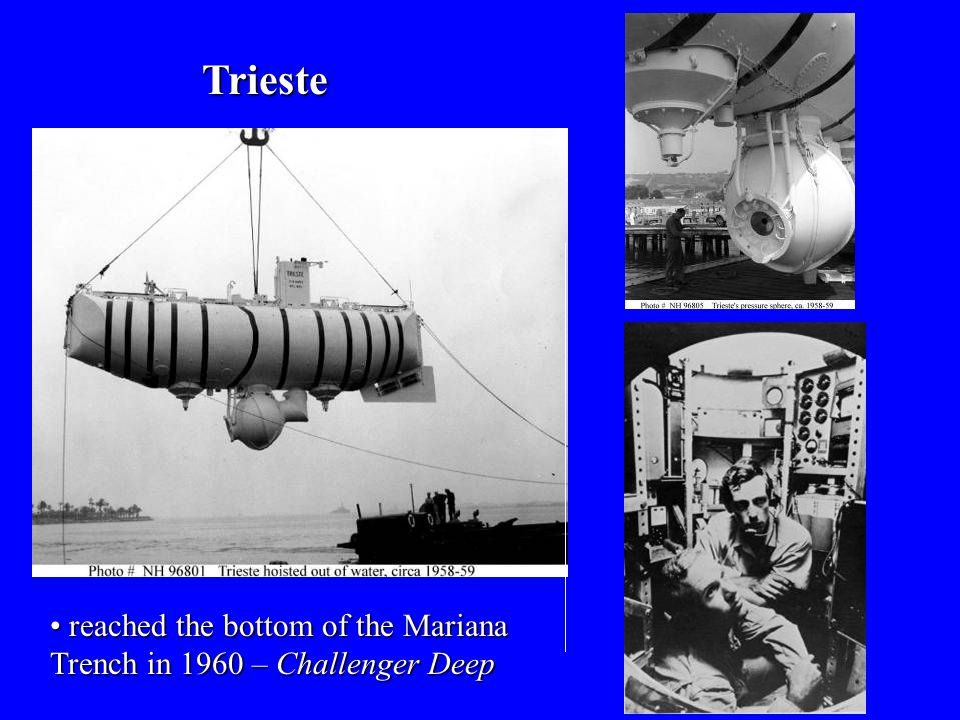 Trieste reached the bottom of the Mariana Trench in 1960 – Challenger Deep reached the bottom of the Mariana Trench in 1960 – Challenger Deep