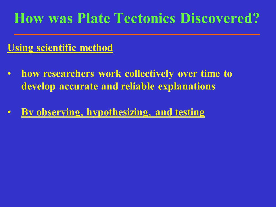 How was Subduction Discovered.