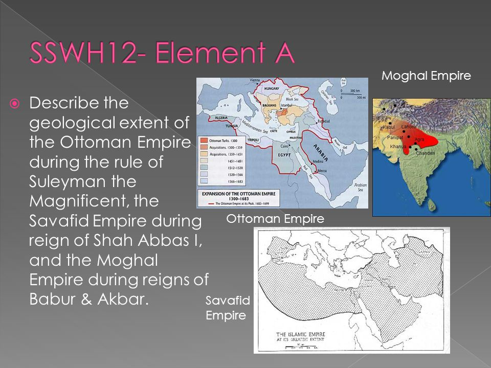  Explain the ways in which these Muslim empires influenced religion, law and the arts in their parts of the world.