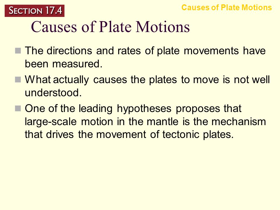 – ridge push – slab pull Objectives Explain the process of convection. Summarize how convection in the mantle is related to the movements of tectonic