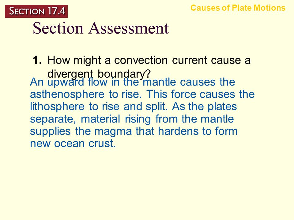 Mantle Convection Unanswered Questions Causes of Plate Motions – A similar set of questions surround the formation of divergent continental plate boun