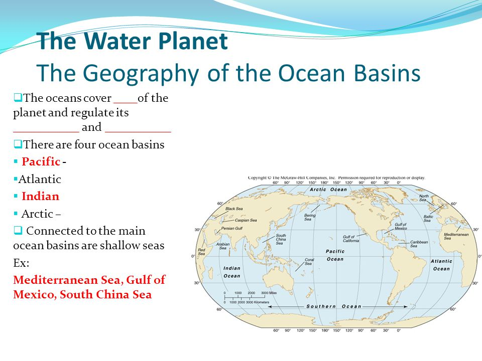 The Origin and Structure of the Ocean Basins Earth today: still dynamic Not static and unchanging Continents still moving.