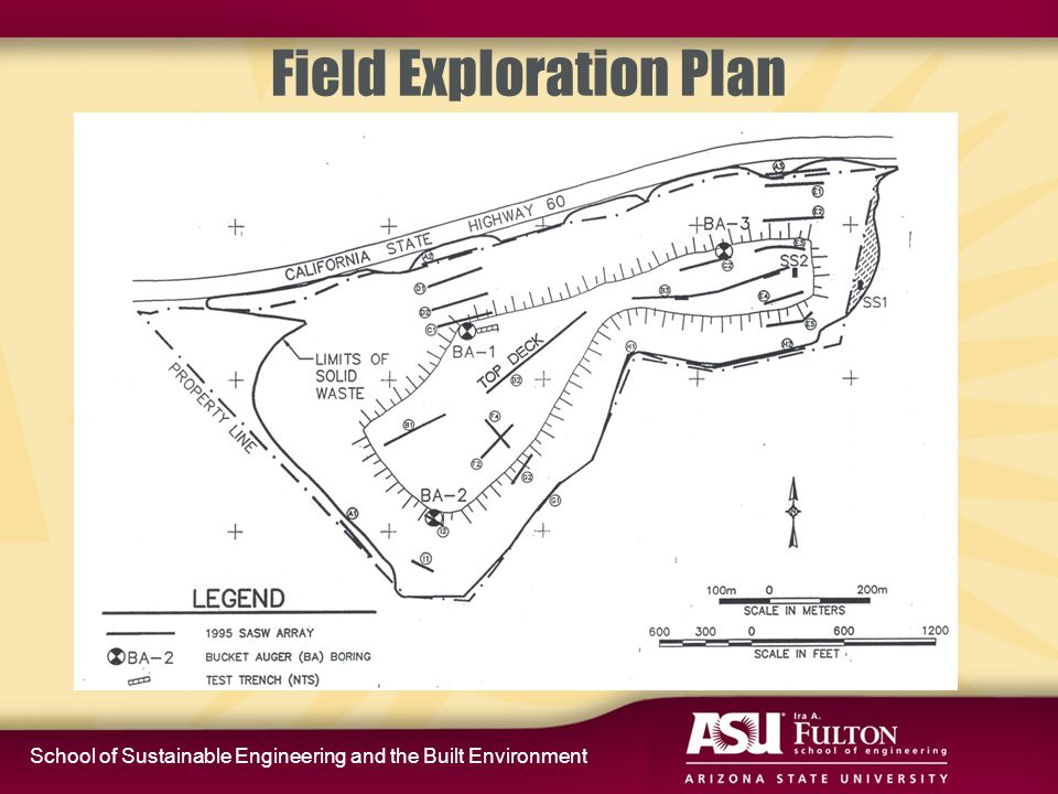 School of Sustainable Engineering and the Built Environment Field Exploration Plan