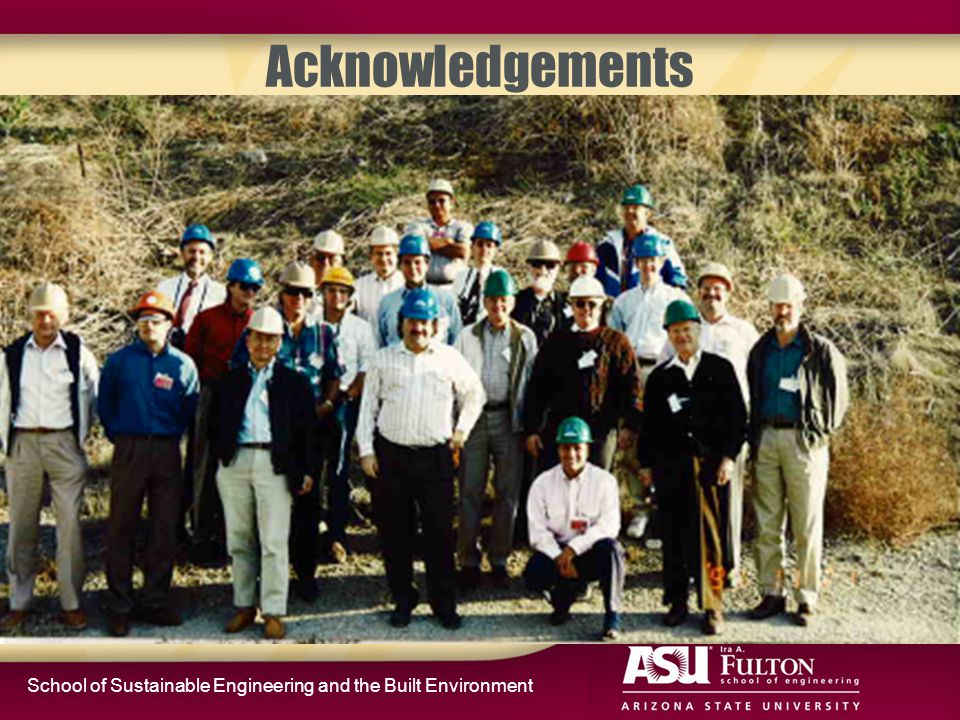 School of Sustainable Engineering and the Built Environment Acknowledgements