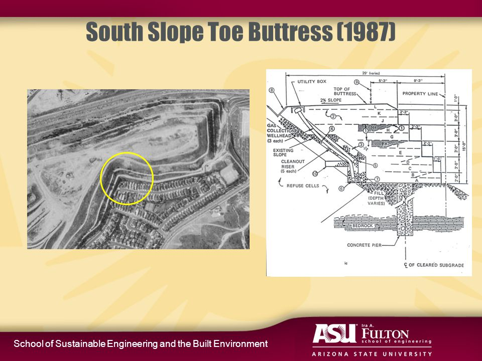 School of Sustainable Engineering and the Built Environment South Slope Toe Buttress (1987)