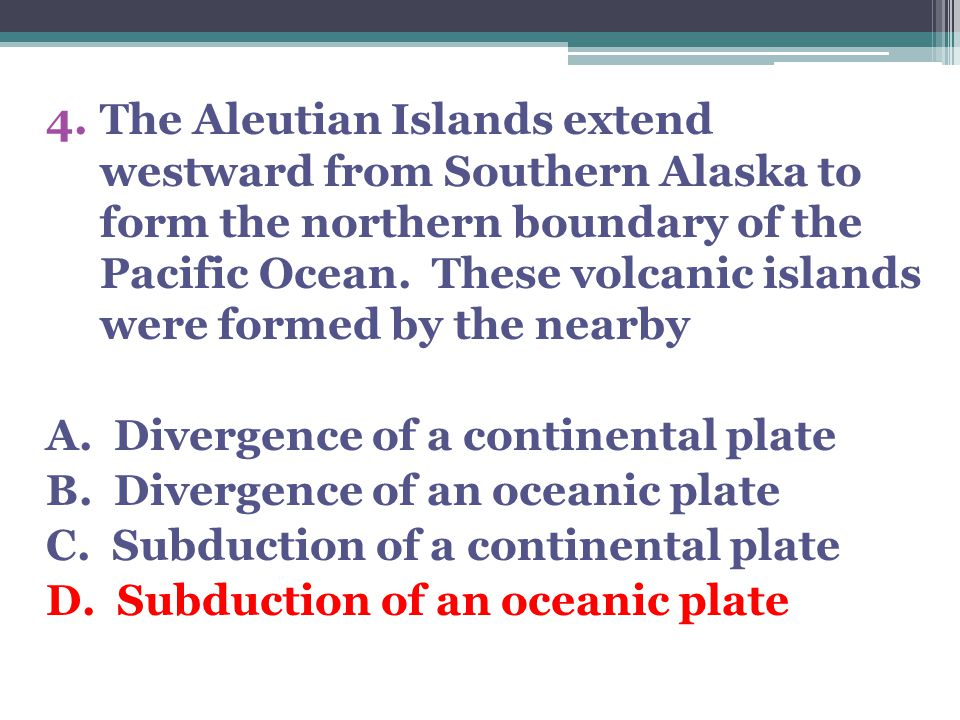10.What type of plate boundary is shown? A. Divergent B. Convergent C. Transform D. Complex