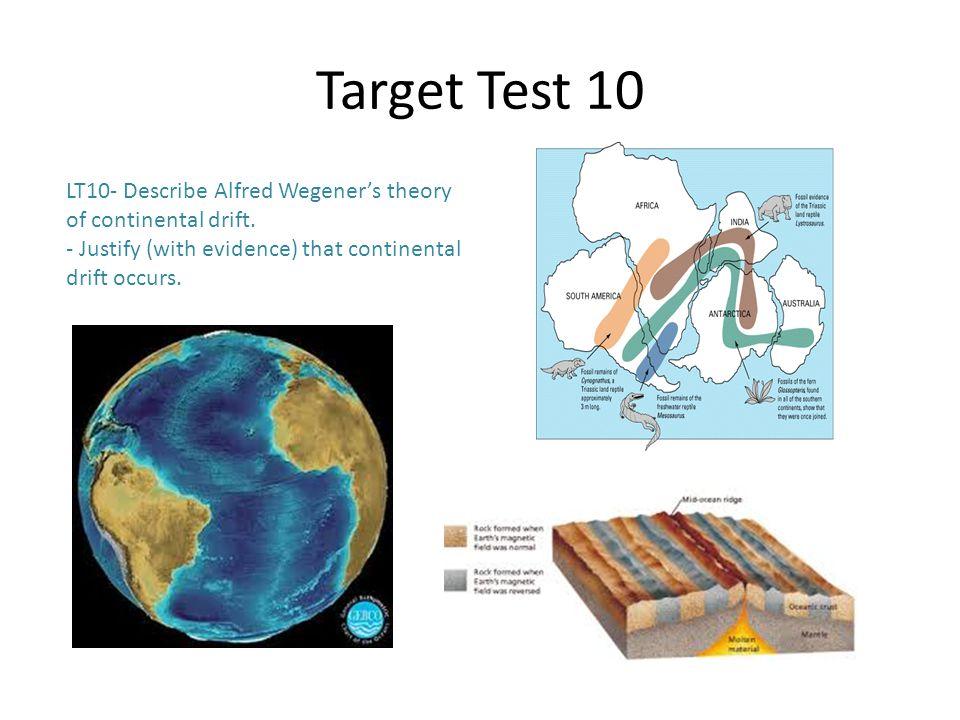 Target Test 10 LT10- Describe Alfred Wegener's theory of continental drift.