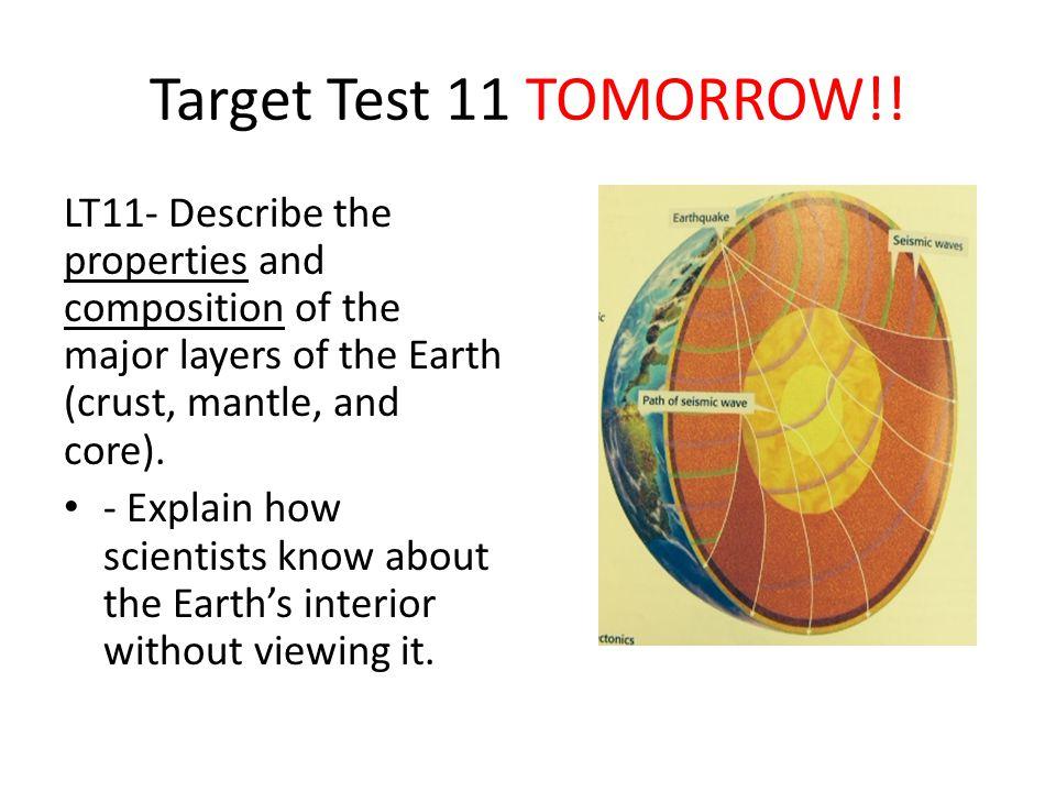 Target Test 11 TOMORROW!.