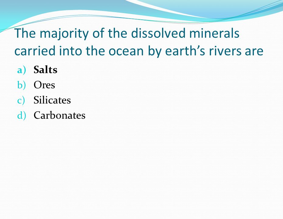 In which environment does salinity tend to be higher.