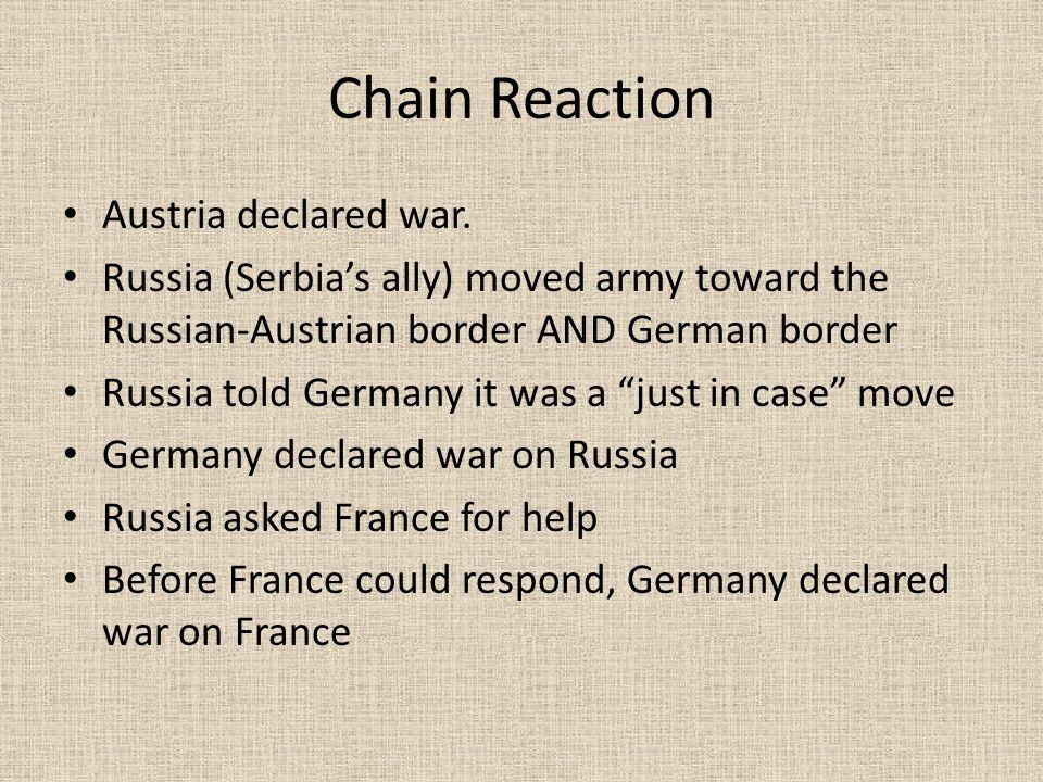 Chain Reaction Austria declared war.