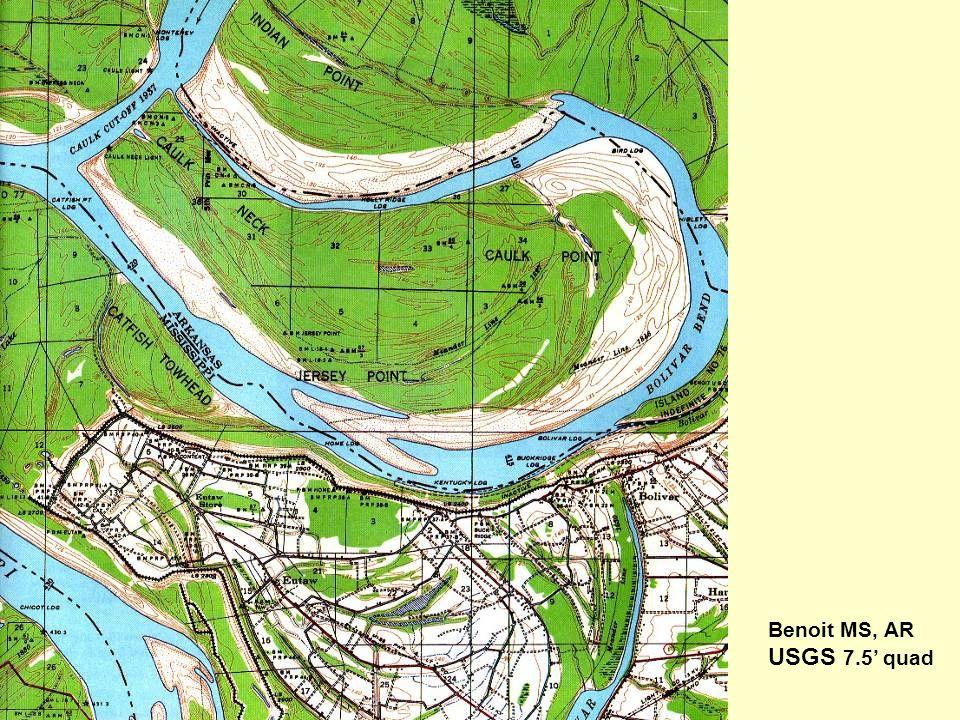Benoit MS, AR USGS 7.5' quad