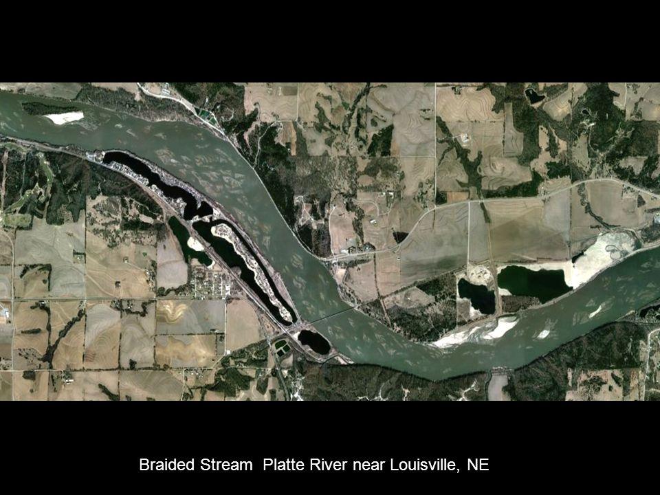 Landscape: flood plain, river valley; Landforms: meanders, oxbow lake, scroll bar ; Laramie R., WY Wysocki