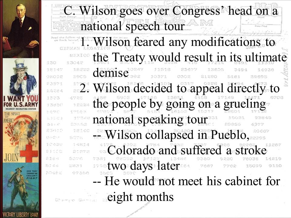 C. Wilson goes over Congress' head on a national speech tour 1.