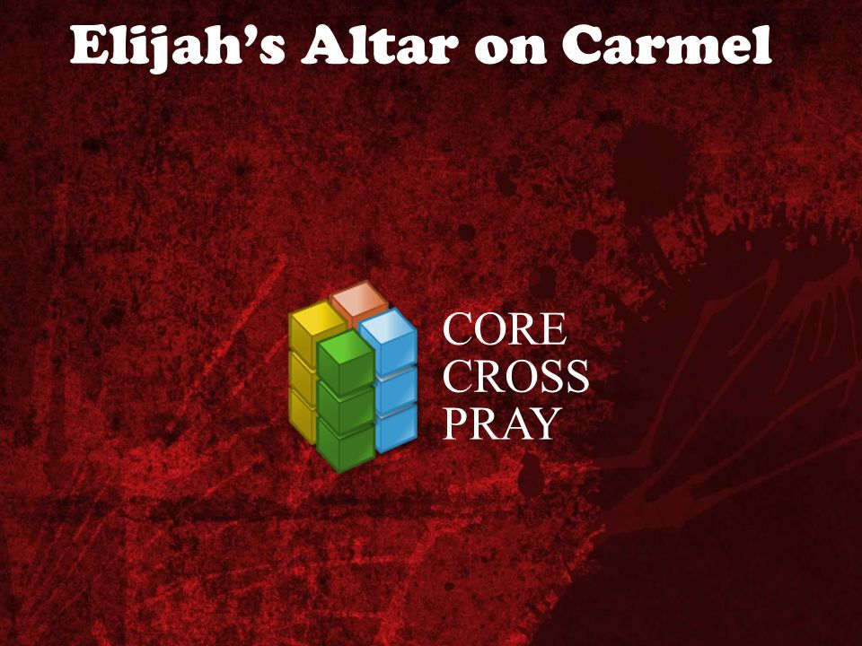 Elijah's Altar on Carmel CORE CROSS PRAY