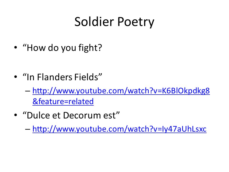 Soldier Poetry How do you fight.