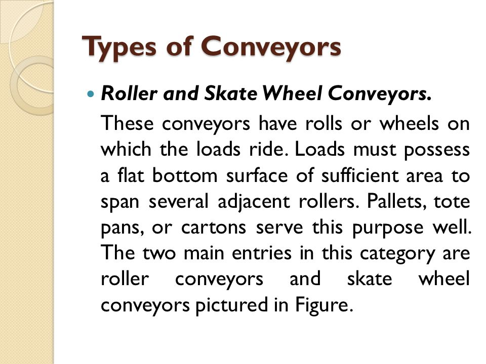 Roller and Skate Wheel Conveyors