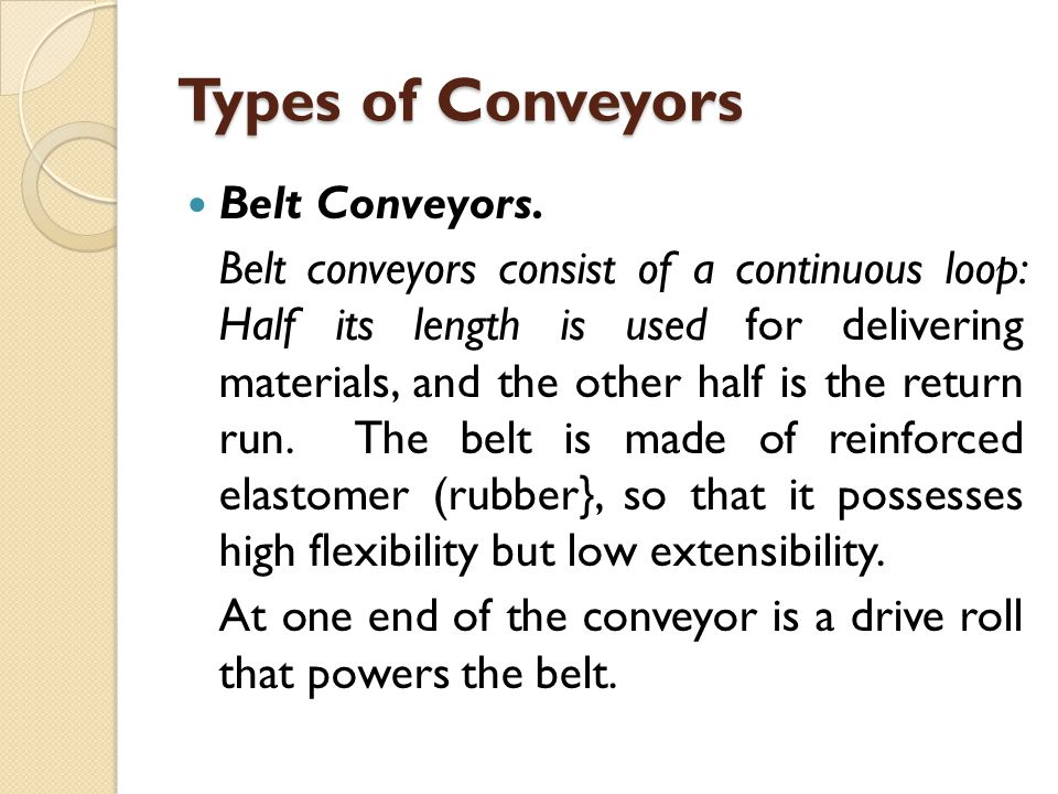 Example A re-circulating conveyor has a total length of 300m.Its speed is 60 m/min and the spacing of part carriers along its length is 12 m.