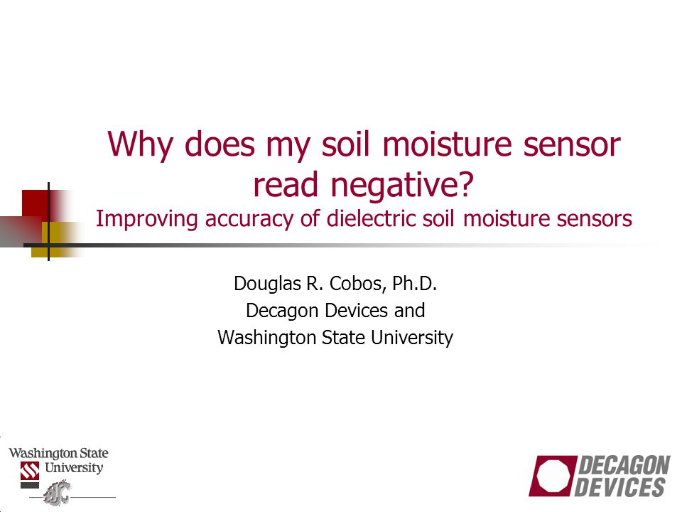 Why does my soil moisture sensor read negative.