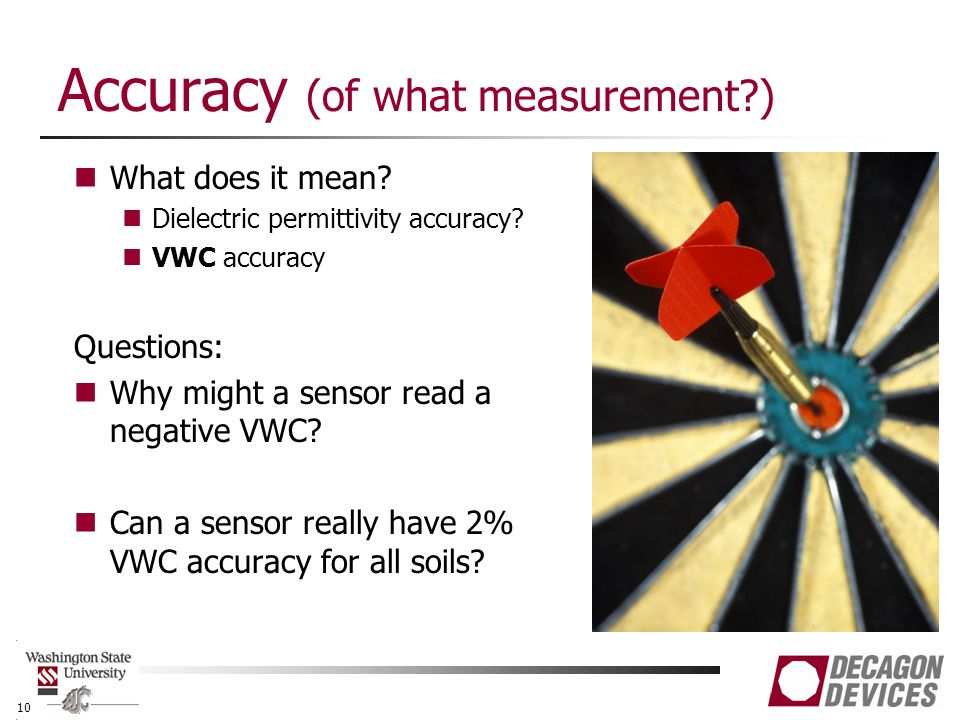 Accuracy (of what measurement ) What does it mean.