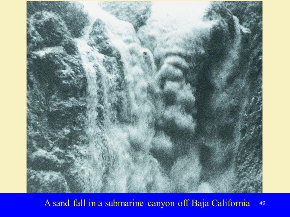 A sand fall in a submarine canyon off Baja California 40