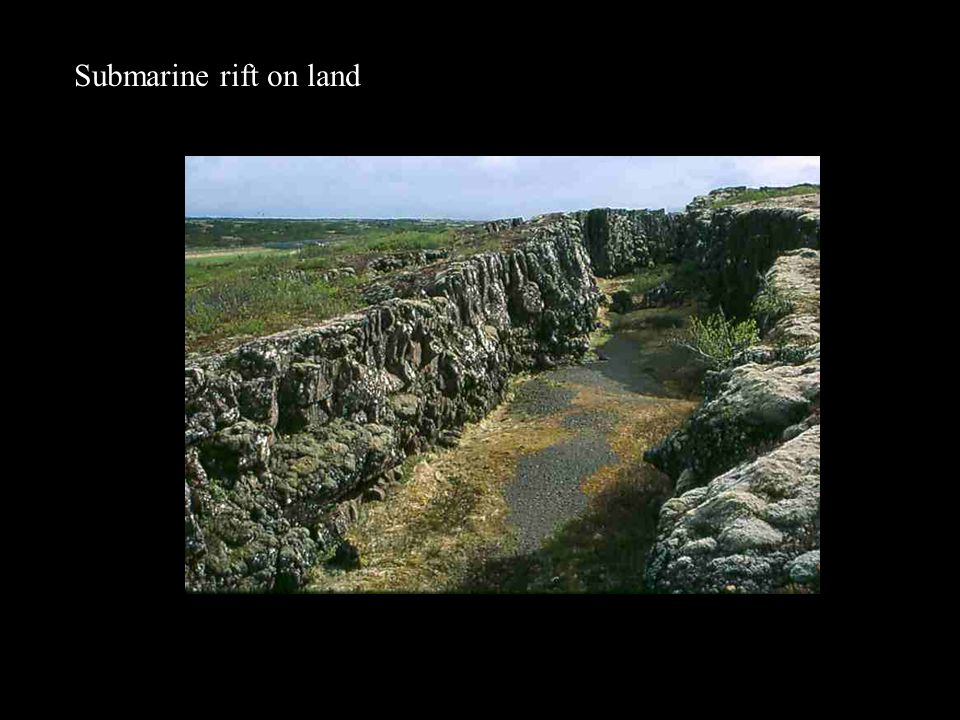 Submarine rift on land
