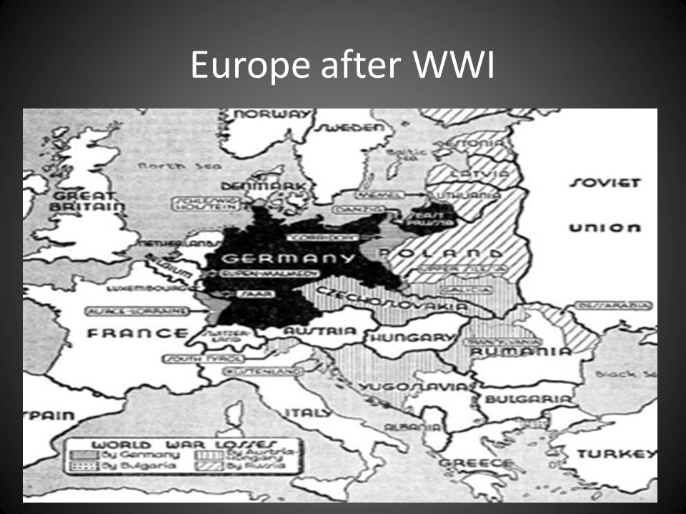 A Flawed Peace Treaty of Versailles – France and Britain impose harsh penalties on Germany Must take full responsibility for war Pay 33 Billion to allies Restrictions on German Army and Navy Took traditional German Lands Wilson's Fourteen Point Plan – Rejected as to forgiving to Germans – Point 14 a League of Nations accepted by Europe US Congress refuses to accept the League of Nations