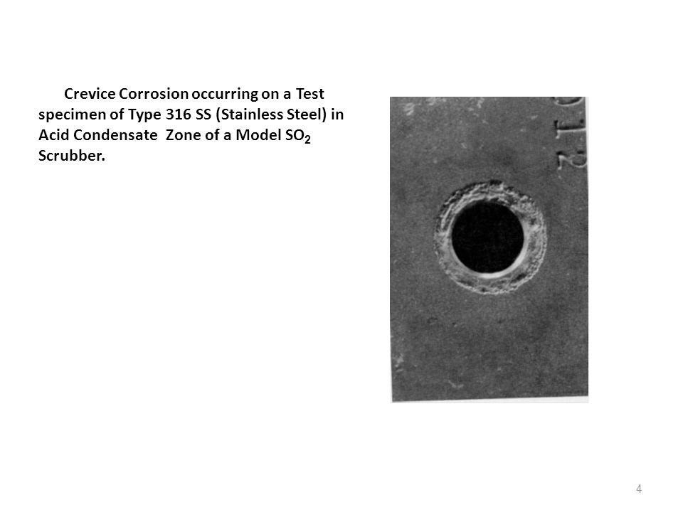 15 COMBATING CREVICE CORROSION (after Fontana) Methods and procedures for combating or minimizing crevice corrosion are as follows: 1.Use welded butt joints instead of riveted or bolted joints in new equipment.